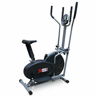 PRO CROSS TRAINER - 2 in 1- EXERCISE BIKE - CARDIO FITNESS WORKOUT MACHINE