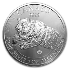CANADA 5 Dollars Argent 1 Once Grizzly 2019