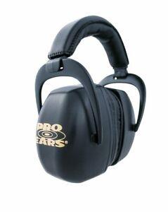 New Pro Ears Ultra Pro Hearing Protection NRR 30 Shooting Range Black Ear Muffs