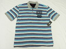 $54 NWT Mens Ecko Unltd Embroidered Rhino Striped Polo Shirt Urban 3XB 3X M969