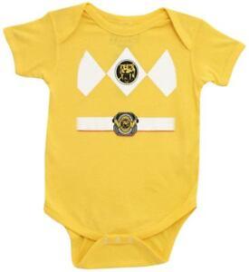 Infant Baby Mighty Morphin Power Rangers Yellow Ranger Costume Romper