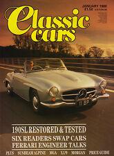 Classic Cars Jan 1988 -   Ferrari,  Sunbeam Alpine,  Mercedes 190 SL,  Le Mans.