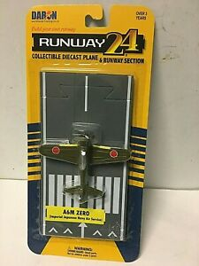 Runway 24 Japanese Zero WWII Diecast Airplane Midway Pearl Harbor Fighter Toy