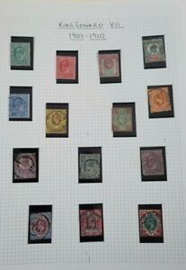 GB ALL REIGNS OF STAMPS ON 4 PAGES MINT AND USED.