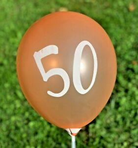 "12 Pack 50th Birthday Rose Gold Balloons 12"" 50th Anniversary Balloons Decor"