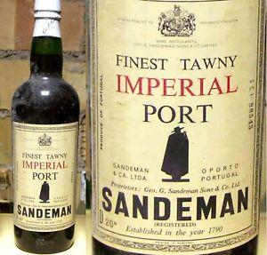 vin Porto SANDEMAN IMPERIAL PORT Finest Tawny wein wine winj 1950-1960's 75cl