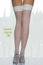 Bridal White Thigh High Lace Top Stockings       LC7937-1