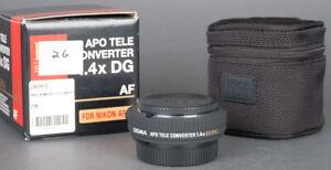 Mint in box Sigma APO Tele Converter 1.4X DG AF  for Nikon F + Warranty!