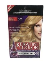 Schwarzkopf KERATIN COLOR Anti-Age Hair Color # 8.0  SILKY BLONDE