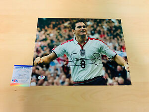 FRANK LAMPARD SIGNED 11x14 PHOTO PSA CERTIFIED CHELSEA ENGLAND #2