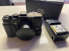 Fujifilm X10 12.0 Mp Black Macro Digital Camera w/ Extra Accessories & Box