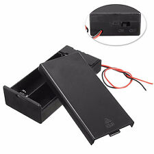 DC Holder Storage Box Case ON/OFF Switch Wire for 3.7V 2 x 18650 Battery Loud