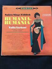 Sabra Sings Yiddish-Rumania Rumania-Yaffa Yarkoni-Glenn Osser Columbia CS 8480