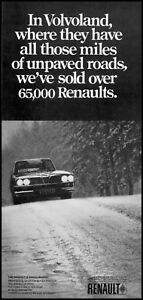 1969 Renault automobile in volvoland unpaved road vintage photo Print Ad ads8