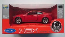 WELLY HYUNDAI GENESIS II COUPE RED 1:34 DIE CAST METAL NEW IN BOX