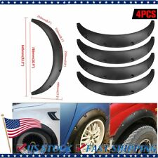 4PCS Universal Flexible 2.75'' Car Fender Flares Wheel Arches Extra Wide Body US