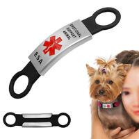 Emotional Support Dog Tag Slide-on ESA Pet Cat Dog Kitten ID Tags Collars
