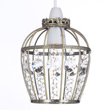 Kliving Anston Antique Brass Acrylic Non Electrical Ceiling Light Shade Birdcage