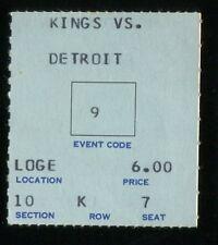 Hockey Ticket Los Angeles Kings  1968 Detroit Red Wings 11/14 Gordie Howe HOF