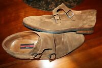 LLOYD Germany DARROW MONK STRAP CAP TOE SUEDE LEATHER SHOES BROWN SIZE 10.5-11