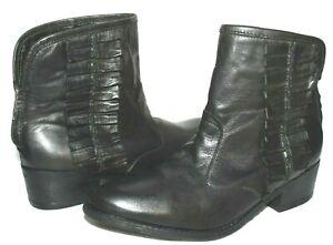 ❤️BETSEY JOHNSON Seal Black Premium Leather Back-Zip Boot 8 M Mexico NEW!L@@K!b
