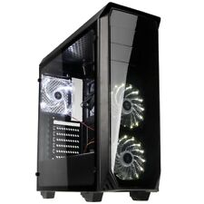 Kolink Luminosity Micro ATX Midi Tower White LED USB 3.0 PC Gaming Case Black