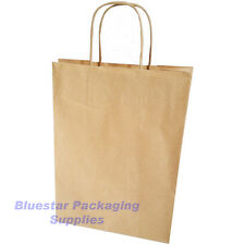More details for kraft strong twisted handle ribbed brown or white paper carrier gift bags