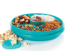 Tupperware Serving Center Small Vegetables Dip /Taco Ice Cream Fixins Blue New