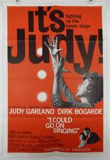 I COULD GO ON SINGING 1963 ORIGINAL MOVIE POSTER - JUDY GARLAND - DIRK BOGARD