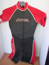BARE~Red Black NEOPRENE SHORTY WETSUIT~Adult Size
