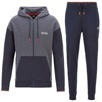 Hugo Boss Men's Athletic Sport TrackSuit Hoodie Sweatshirt Jacket & Pants Set