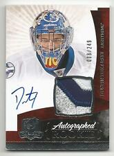 10-11 Dustin Tokarski The Cup Auto Rookie Card RC #147 Jersey Patch 008/249