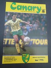 Norwich V  Coventry 1984/5
