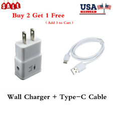 Us Plug Wall Charger Adapter + Usb 3.1 to Type C Connector Fast Charging Cable