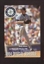 Seattle Mariners--Randy Johnson--1994 Pocket Schedule--Eagle Hardware