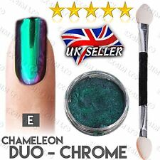 Ultra Chameleon Multi Duo Chrome Pigment Color Shift Nails Powder Purple Green E