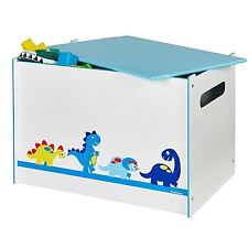DINOSAURS MDF TOY BOX CHILDRENS STORAGE TOYS GAMES BOOKS BEDROOM STORAGE NEW