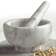Marble Mortar and Pestle Spice Herb Bowl Grinder Pill Crasher Kitchen Tool