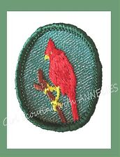 CARDINAL Girl Scout NEW TROOP CREST Red Bird 1955 Merrow Edge Multi=1 Ship Chrg