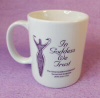 In Goddess We Trust Coffee Mug 10 oz Purple Graphic White Ceramic Tea Cup LINYI