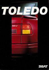 Seat Toledo folleto 11 92 brochure 1992 auto automóviles auto folleto folleto España