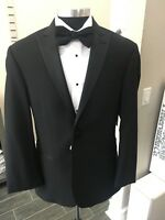 Ralph Lauren Black Tuxedo Coat (Trim Fit) Super 130's Wool with Matching Pants