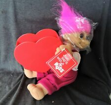 Just say it with a SOFTBODY RUSS TROLL Holding a Large RED HEART POT NEW TAG