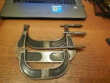 """3 Vintage Brown & Sharpe Outside Micrometers 4""""-5"""" 2 qty 5""""-6"""""""