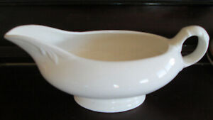 VINTAGE WHITE CHINA GRAVY BOAT