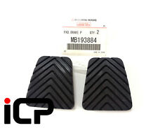 2 x Genuine Clutch & Brake Pedal Pad Rubbers For Mitsubishi Lancer Evo 5 6