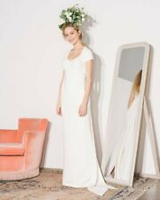 NEW $5,200 STELLA MCCARTNEY Rose Tie-back Stretch-cady White Gown 36 2