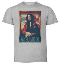 T-Shirt Gray - Maglia Grigia - Propaganda Meme - LOL Elio - Gioconda