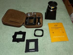 Rollei Rolleikin 3.5 Camera 35mm Film Adapter & Hasselblad Finder Hood & Book