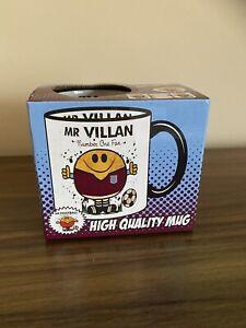 Mr VILLAN MUG. Gift Boxed. Present idea for Aston VILLA football fans.